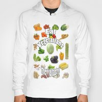 vegetarian Hoodies featuring Eat A Vegetarian by PerfectImperfections