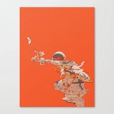 Tangerine Astronaut Canvas Print