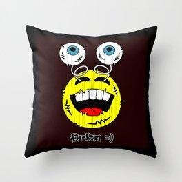 FREAKIN' LAUGHING EMOTICON! Throw Pillow