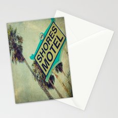 Shores Motel Sign Stationery Cards