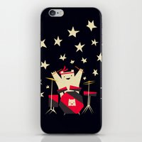 drums iPhone & iPod Skins featuring hit the drums!  by Yetiland