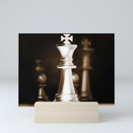 Chess-Sliver King Mini Art Print