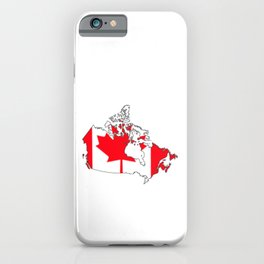 Canada Map with Canadian Flag iPhone Case