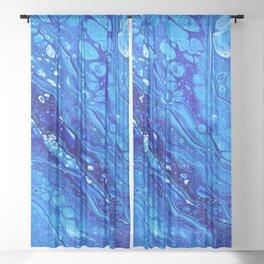 Blue Splash Sheer Curtain