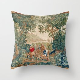 Verdure 18th Century French Tapestry Print Throw Pillow