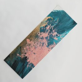 Coral Reef [1]: colorful abstract in blue, teal, gold, and pink Yoga Mat