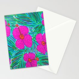 Hawaii Dreams Hibiscus Print Stationery Cards