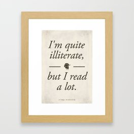 Salinger's The Catcher in the Rye - Literary quote art, bookish gift, modern home decor Framed Art Print