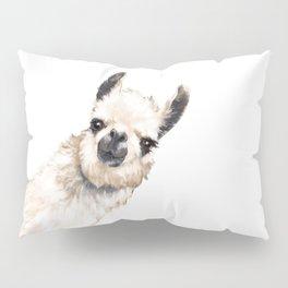 Sneaky Llama White Pillow Sham