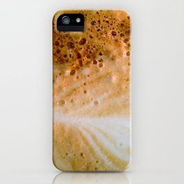 Close-up of a cafe latte iPhone Case
