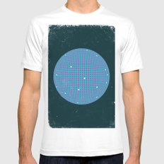 Sphere Blue MEDIUM White Mens Fitted Tee