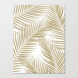 Palm Leaves - Gold Cali Vibes #1 #tropical #decor #art #society6 Canvas Print
