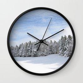 Charteuse Mountain2 Wall Clock