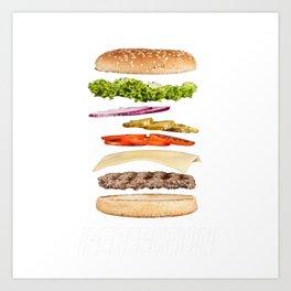 Perfection Hamburger Art Print