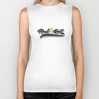 rock and roll Biker Tanks featuring Rock & Roll by peggo