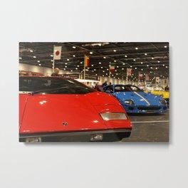 Lamborghini Countach & Ferrari F40 Lineup Metal Print