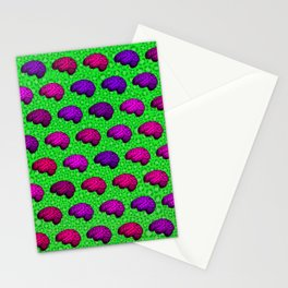 Brains And Leopard Print Stationery Cards