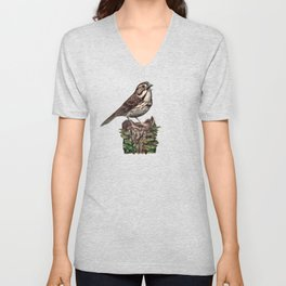 Song Sparrow Unisex V-Neck