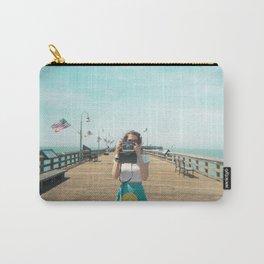 Camera Girl on the California Coast - Holga Photo Carry-All Pouch