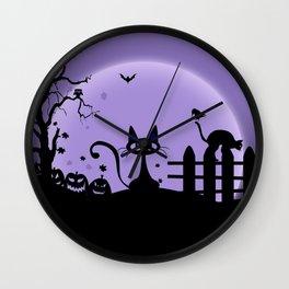 Cat Halloween-Nightmare Wall Clock