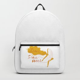 I can't, I have dance - Yellow Backpack