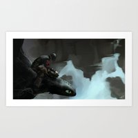 hiccup Art Prints featuring Toothless and Hiccup by kirza