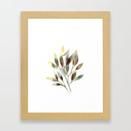 Leaves branch Framed Art Print