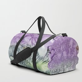 Cat smile- abstract watercolor landscape monotype Duffle Bag