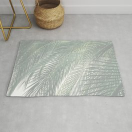 Faded Palm Leaves Rug