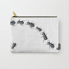 Black Beetles Carry-All Pouch