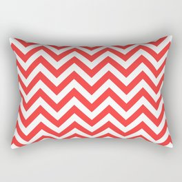 Coral Chevron Rectangular Pillow