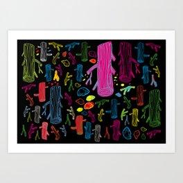 Elements of color Art Print