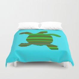 Sea Turtle Stripes Duvet Cover