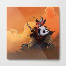 panda fighters Metal Print