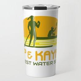 SUP and Kayak Water Sports Retro Travel Mug