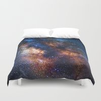milky way Duvet Covers featuring Milky Way by Zavu