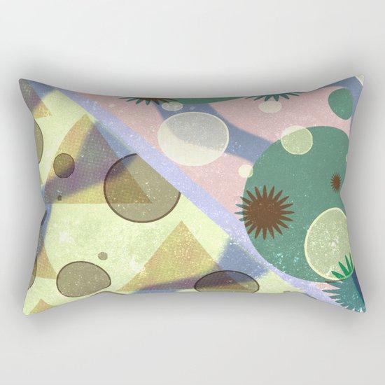 Geometric Suns and Pyramids Rectangular Pillow