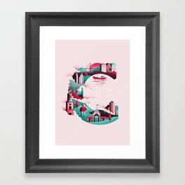Wanderlust Alphabet – C is for Copenhagen Framed Art Print