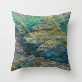 River Run Throw Pillow
