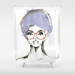 wrapped up Shower Curtain