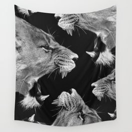 Lion B&W Wall Tapestry