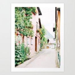 The Streets of Hallstatt Art Print