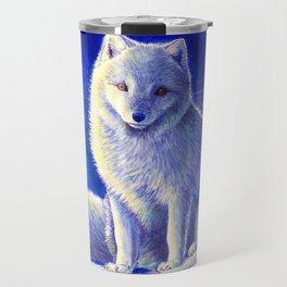 Peaceful Winter Arctic Fox Travel Mug