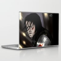 bucky barnes Laptop & iPad Skins featuring I don't know you - Bucky Barnes by xKxDx