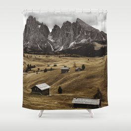 seiser alm landscape Shower Curtain