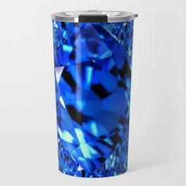 AWESOME SEPTEMBER BLUE  SAPPHIRES GEM BIRTHSTONE ART Travel Mug