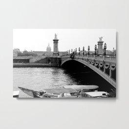 Bridge in Paris, France Metal Print