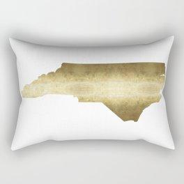 North Carolina Gold Foil State Map Rectangular Pillow