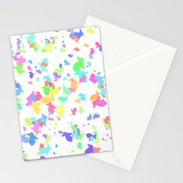 Bunny Rabbit Color Scatter Stationery Cards