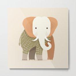 Whimsical Elephant Metal Print
